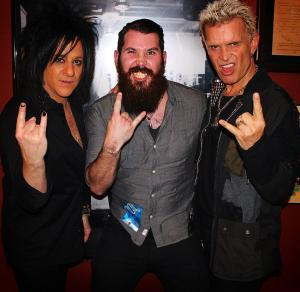 Billy Idol and Steve Stevens, Detroit, Michigan, 2/6/15