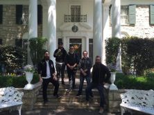 The band spent a day off in Mempis, TN at Elvis' Graceland.