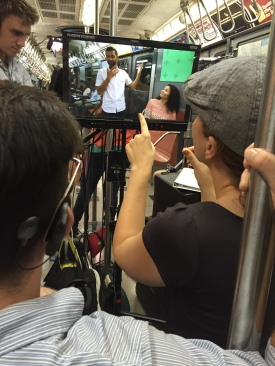Directors Adrean Mangiardi & Jules Dameron on Set in NYC