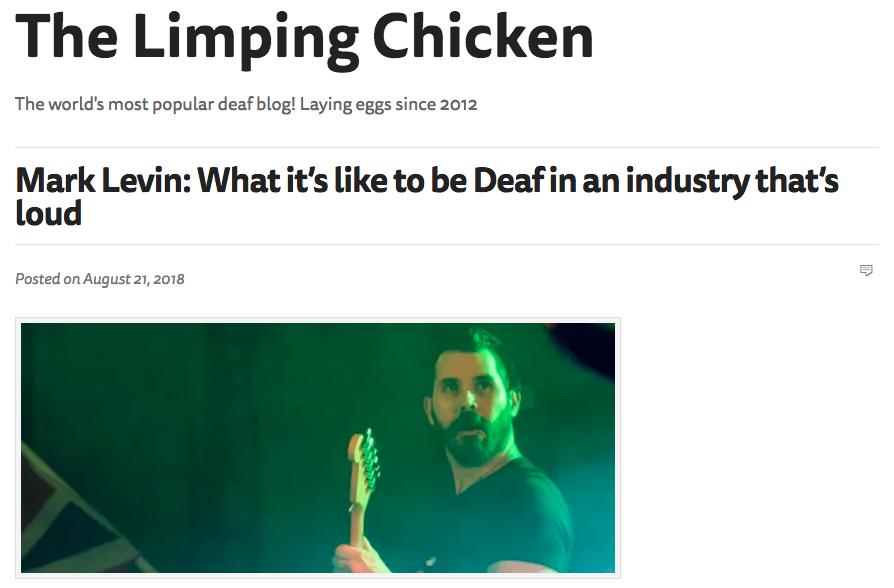 Deaf in a Loud industry