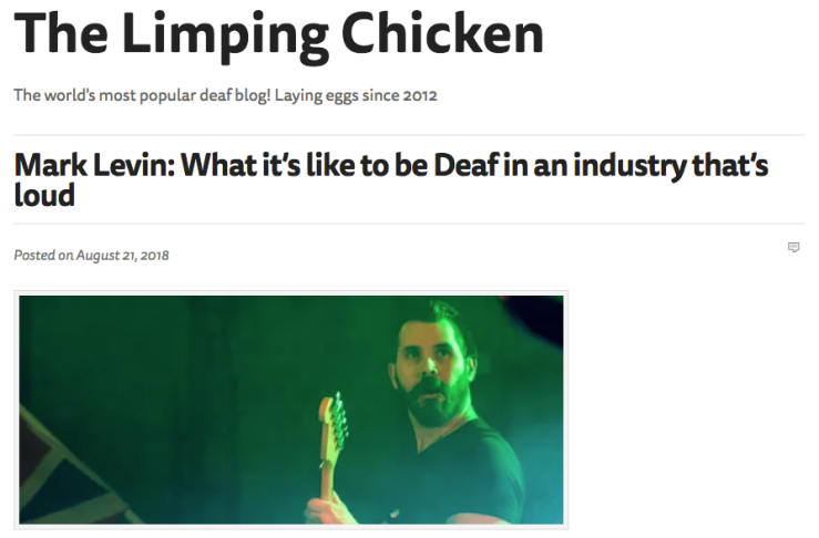 Deaf in a Loud industry